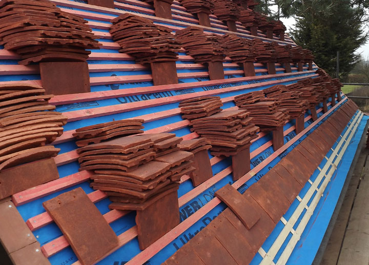 hand made keymer clay roof tiles